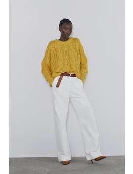 Pullover A Trecce Visualizza Tutto Maglieria Donna by Zara