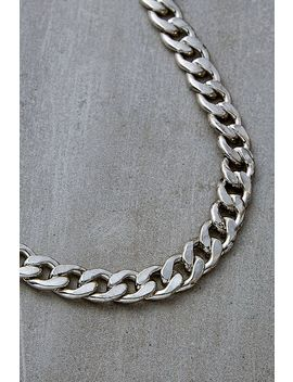 Silver Plated Statement Curb Chain Necklace by Urban Outfitters