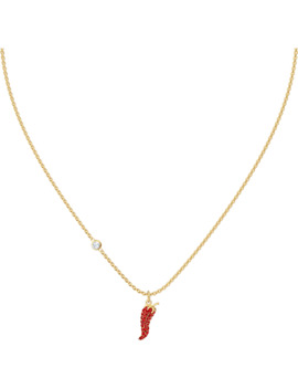 Lisabel Pepper Pendant, Red, Gold Tone Plated by Swarovski
