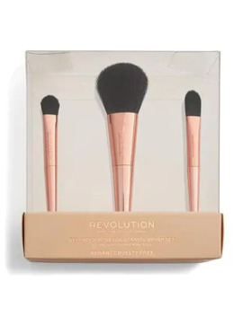 Revolution Rose Gold Travel Brush Set by Superdrug