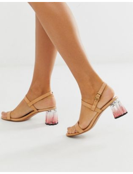 &Amp; Other Stories Gradient Acrylic Heeled Sandals In Beige by & Other Stories