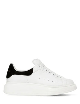 40 Mm Leather &Amp;Amp; Suede Sneakers by Alexander Mcqueen