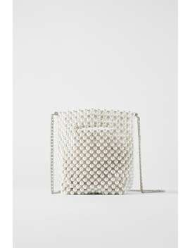 Pearl Bead Mini Bucket Bag Bagswoman Shoes &Amp; Bags by Zara