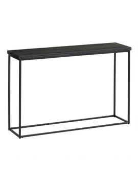Black Geometric Carved Wood And Metal Samir Console Table by World Market