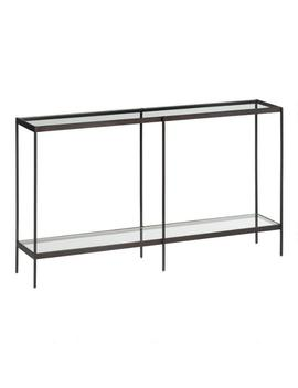 Glass And Metal Baruch Console Table by World Market