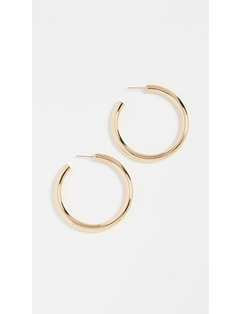 Lou Medium Hoop Earrings by Jennifer Zeuner Jewelry