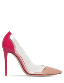 105 Mm Patent Leather &Amp;Amp; Plexi Pumps by Gianvito Rossi