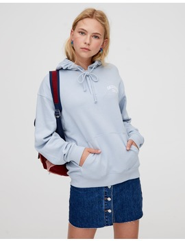 Hoodie With Snap Buttons by Pull & Bear