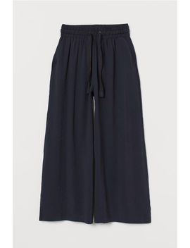 Wide Modal Blend Trousers by H&M