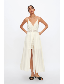 Lace Jumpsuit Dress Jumpsuitswoman by Zara