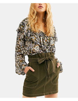 Splendor In The Grass Tie Waist Denim Skirt by General