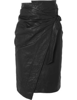 Ayeni Gathered Leather Wrap Skirt by Isabel Marant Étoile