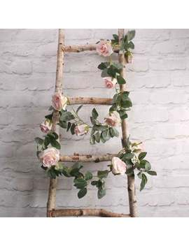 Light Blush Pink Rose Flower Garland, Artificial Flowers, Vines, Flower Garland, Rustic Wedding Decorations, Home Li Ght Pink by Etsy