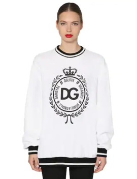 Logo Printed Sweatshirt by Dolce & Gabbana