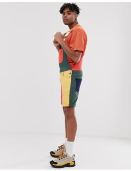 Asos Design Denim Overalls In Color Block by Asos Design