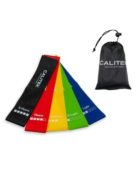 Calitek Set Of 5 Resistance Loop Bands For Exercise Sports Fitness Home Gym Yoga by Ebay Seller