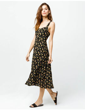 sky-and-sparrow-floral-button-front-midi-dress by sky-and-sparrow