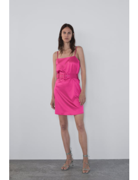 Satin Mini Dress View All Dresses Woman by Zara