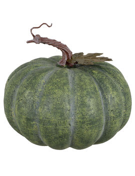 """Distressed Green Resin Pumpkin, 6.5""""Distressed Green Resin Pumpkin, 6.5"""" by At Home"""