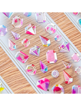 Transparent Crystal Diamond Decorative Sticker Cute Cat Diy Diary Album Scrapbooking Label Stickers Stationery School Supplies by Ali Express.Com