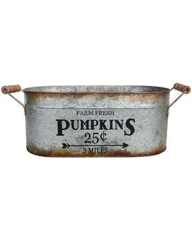 Metal Central Pumpkin 25 Cents Bucket 18 X 7 In.Metal Central Pumpkin 25 Cents Bucket 18 X 7 In. by At Home