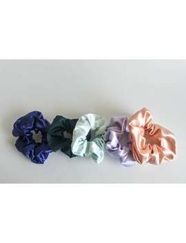 5 Color Satin Hair Scrunchie/ Hair Scrunchie/Pastel Scrunchies/Ponytail Scrunchies by Etsy