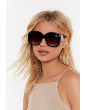 Big Talk Oversized Sunglasses by Nasty Gal