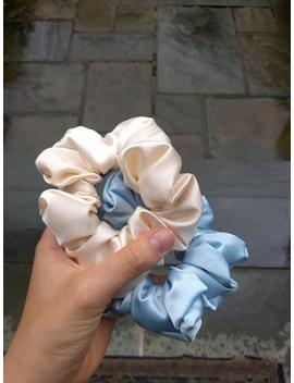 Large Pearl Satin Scrunchie by Etsy