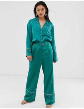 Aeryne Pyjama Trousers With Contrast Piping by Aeryne