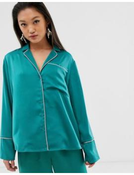 Aeryne Pyjama Top With Contrast Piping by Aeryne