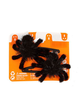 Fuzzy Spider Hair Clips   Black, 2 Pack by Claire's