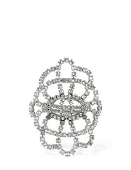 Tennis Statement Crystal Ring by Gucci