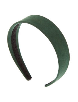 Wide Suede Headband   Hunter Green by Claire's
