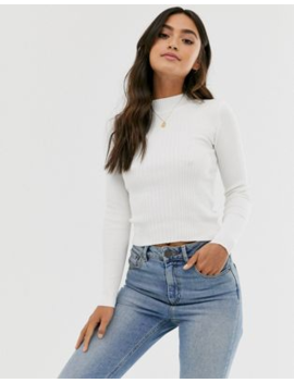 Pull&Amp;Bear Turtle Neck Jumper White by Pull&Bear