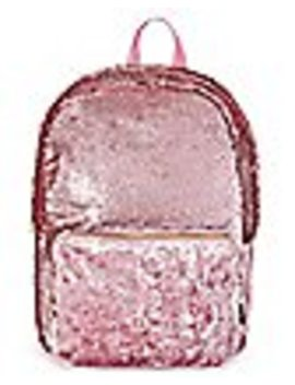 Pink Sequin And Velvet Backpack by Spencers