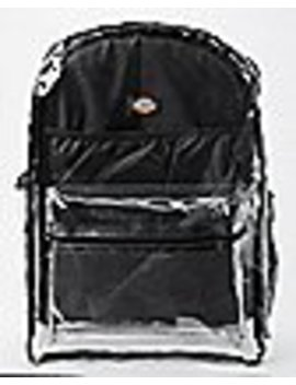Clear Pocket Backpack   Dickies by Spencers