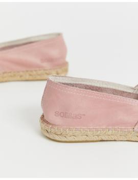 Solillas Exclusive Pink Suede Espadrilles With Black Toe Caps by  Solillas