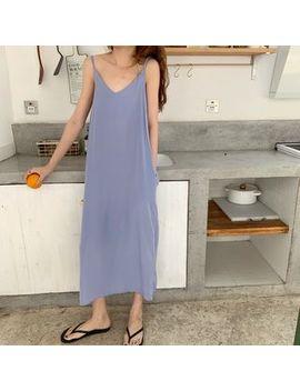 Very Berry   Spaghetti Strap Midi Dress / Plain Shirt by Very Berry
