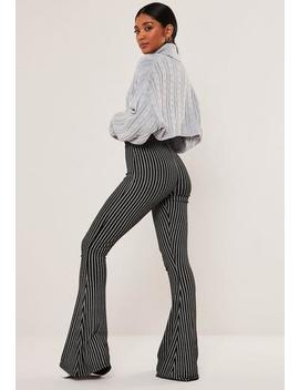 Black Stripe Flared Trousers by Missguided