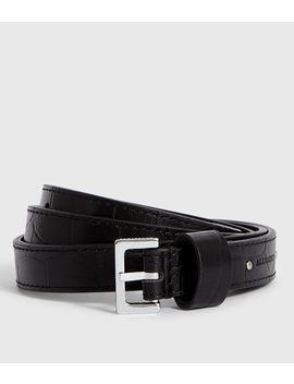 Pipi Crocodile Leather Belt by Allsaints