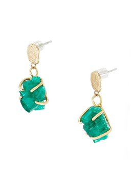Emerald Crystal Earrings by Uncommon Goods