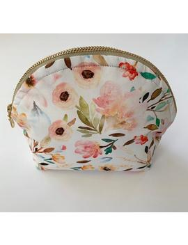Essential Oil Bag / Curved Top Oil Bag / Oil Travel Bag / Watercolor Floral by Etsy