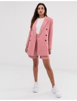 Asos Design Oversized Suit In Dark Blush by Asos