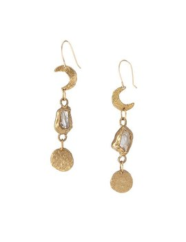 Moon And Stars Earrings by Uncommon Goods