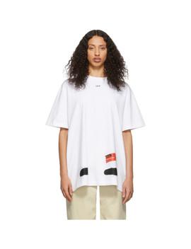 T Shirt Blanc Diag Spray Paint Exclusif à Ssense by Off White