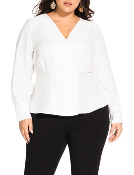 Elegance Wrap Top by City Chic