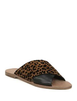 Baile Leopard Print Suede Sandals by Diane Von Furstenberg