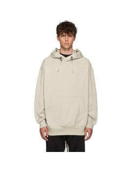 Ecru M Varsity Tailored Hoodie by Y 3