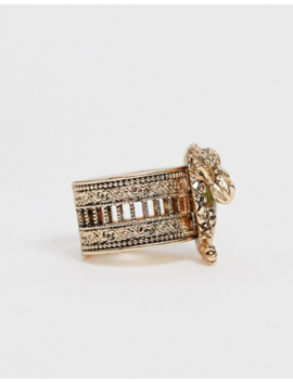 Sacred Hawk Gold Dragon &Amp; Stone Ring by Sacred Hawk