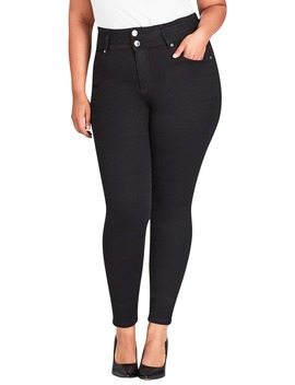 Harley High Rise Skinny Jeans by City Chic